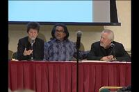 Video still of panel presentation